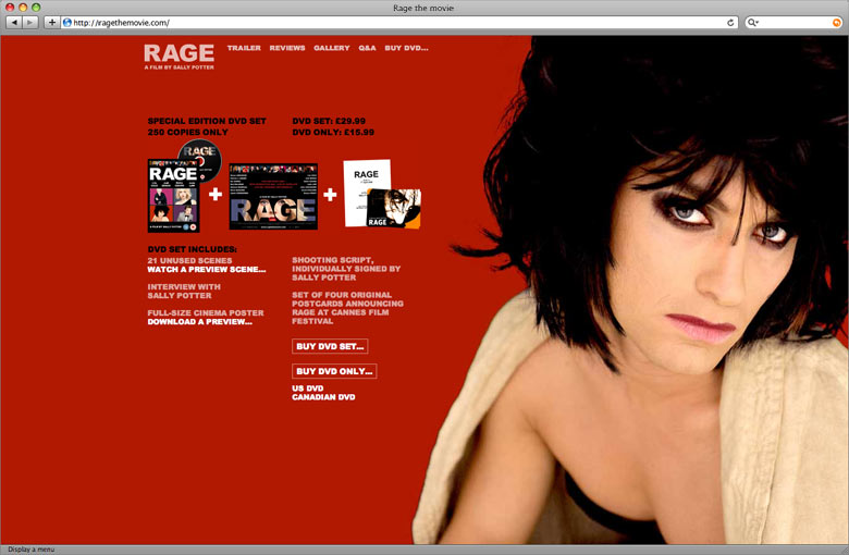 Rage the Movie - Website