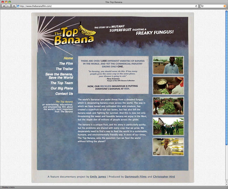The Top Banana website